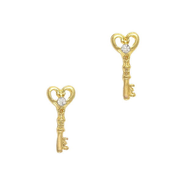 Nail Charm Key To Your Heart - Gold