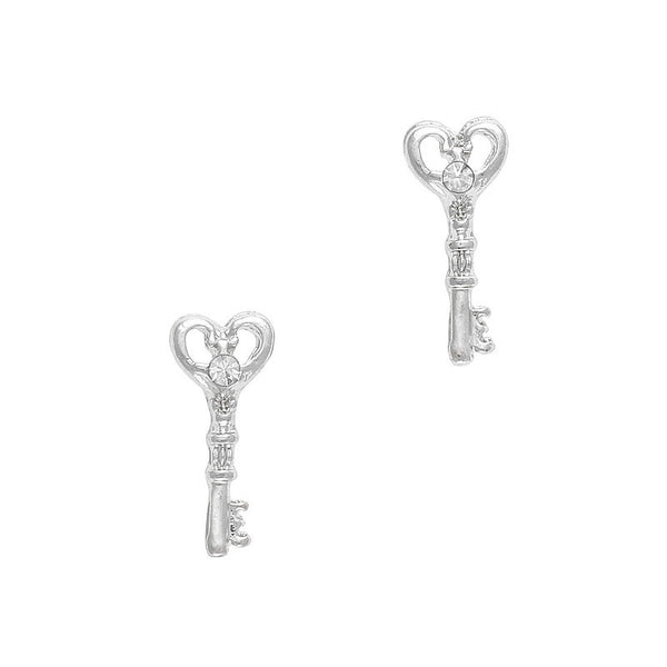 Nail Charm Key To Your Heart - Silver