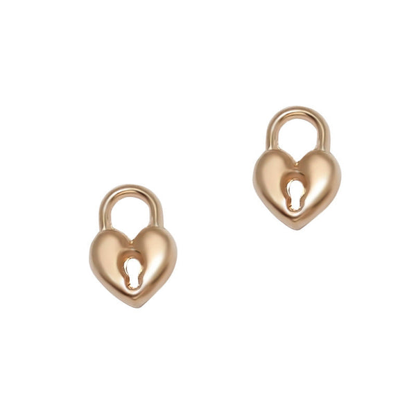 Nail Charm Heart Lock - Rose Gold