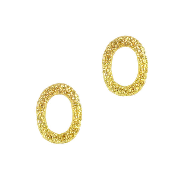 Nail Decor Textured Oval Frame - Gold