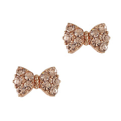 Princess Bow Swarovski Charm - Rose Gold / Silk