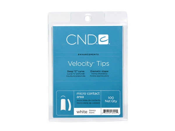 CND Velocity Tips - Choose Natural, White or Clear (100 count)