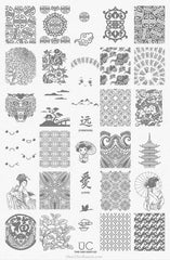 UberChic Nail Stamping Plate - Far East-02