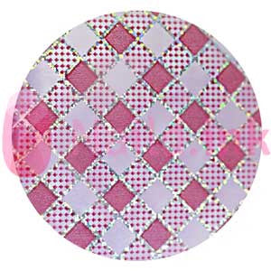 Nail Art Foil - Light Pink Diamond Pattern
