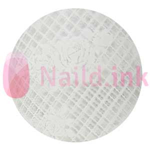 Nail Art Foil - White Lace Pattern