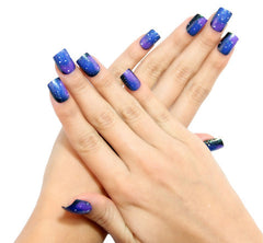 Nailhur Snap On Manicure - Galaxy (Square)
