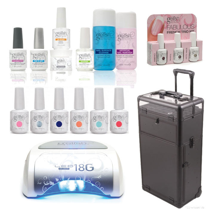 Gelish - Professional Mobile Nail Tech Kit (Choose 6 Colours)