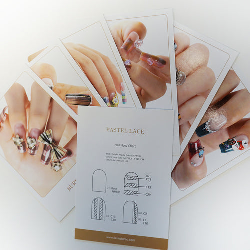 GellyFit Nail Art Instruction Cards