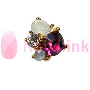 Nail Charm Cluster - Gold And Purple