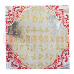 Nail Art Stickers - Golden Patterns