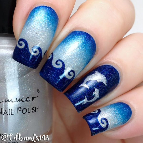 Whats Up Nails Nail Vinyl - Dolphins Stencils