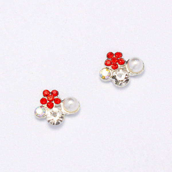 Nail Charm Spring Flower Cluster - Red