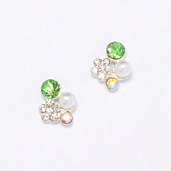 Nail Charm Spring Flower Cluster - Green