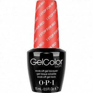 OPI GelColor - I Stop For Red