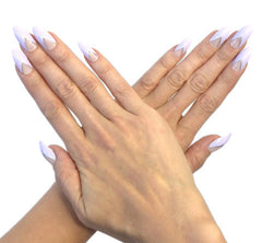 Nailhur Snap On Manicure - Lavender Love (Stiletto)