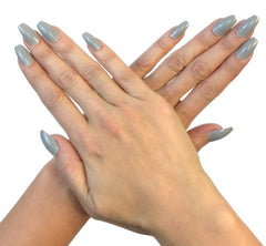 Nailhur Snap On Manicure - 24 Shades of Grey (Squaletto)