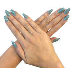 Nailhur Snap On Manicure - Blue Grey (Squaletto)