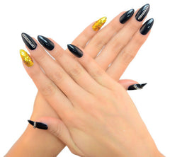 Nailhur Snap On Manicure - Cat Fight (Stiletto)