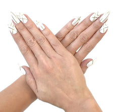 Nailhur Snap On Manicure - Crisss Cross (Stiletto)