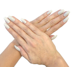 Nailhur Snap On Manicure - Light Grey (Squaletto)