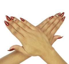 Nailhur Snap On Manicure - Bad Blood (Stiletto)