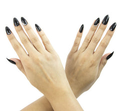 Nailhur Snap On Manicure - Black Hole (Stiletto)