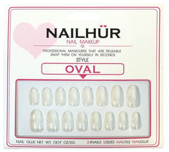 Nailhur Snap On Manicure - Clear (Oval)