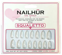 Nailhur Snap On Manicure - Clear (Squaletto)