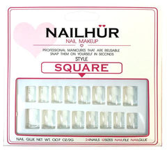 Nailhur Snap On Manicure - Clear (Square)