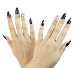 Nailhur Snap On Manicure - Dark Matter (Stiletto)