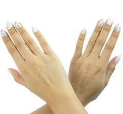Nailhur Snap On Manicure - Marble (Oval)