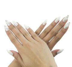 Nailhur Snap On Manicure - Marble (Stiletto)