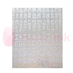 Nail Art Stickers - Silver Patterns