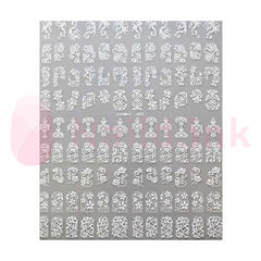 Nail Art Stickers - White Patterns