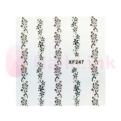 Nail Art Stickers - Flower Strings