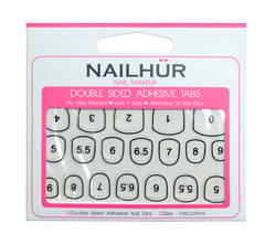 Nailhur Snap On Manicure - Double-Sided Adhesive Tabs
