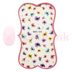 Nail Art Stickers - Colourful Flowers