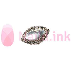 Nail Charm - Oval With Gemstone