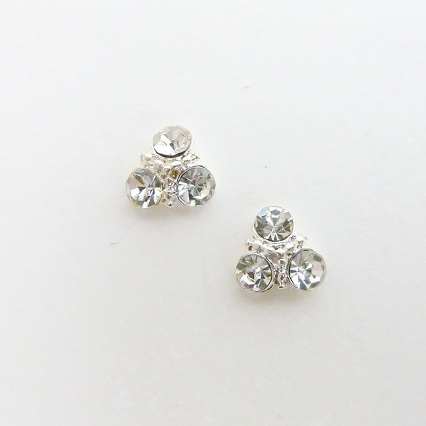 Nail Charm Triangle Cluster - Clear Crystal