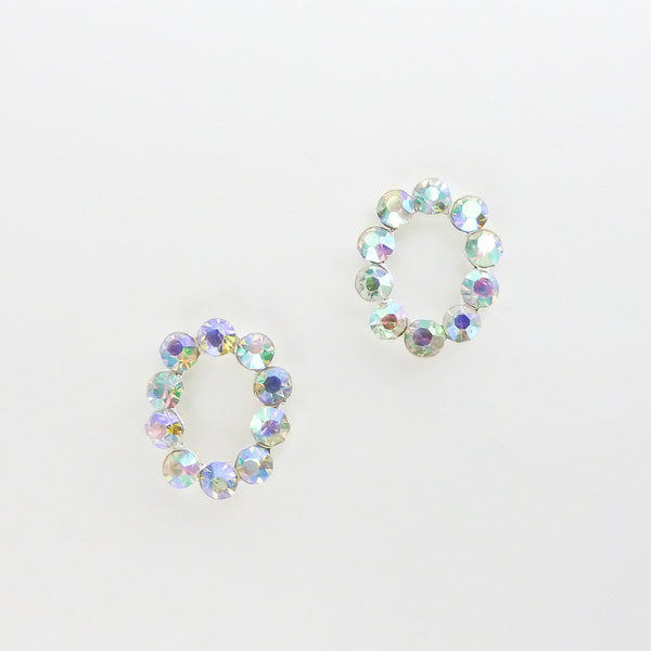 Nail Decor Oval Frame - AB Crystal
