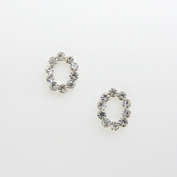 Nail Decor Oval Frame - Clear Crystal