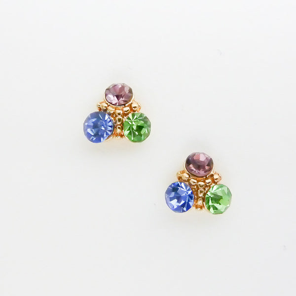 Nail Charm Triangle Cluster - Coloured Crystal