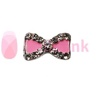 Nail Charm Bow - Pink Sparkle