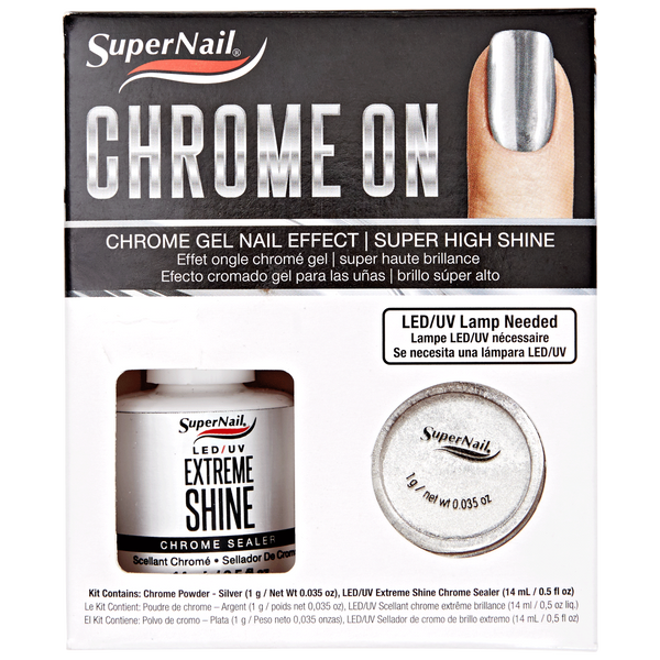 Super Nail Chrome On Kit - Silver Chrome