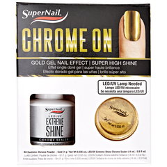Super Nail Chrome On Kit - Gold Chrome