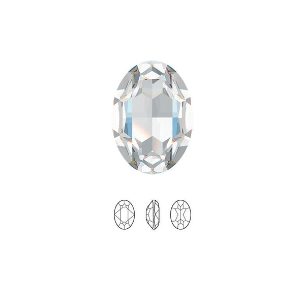 Swarovski Oval Fancy Pointed Back Rhinestone - Clear