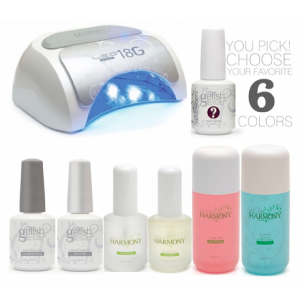 Gelish - Professional Starter Kit with Harmony 18G LED Lamp (incl. 6 Colours)