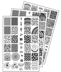 UberChic Nail Stamping Plates - Collection 9 (Set of 3)