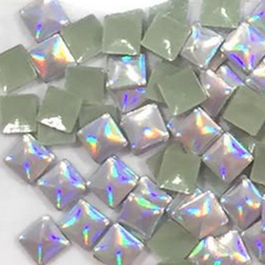 Holographic Square Studs