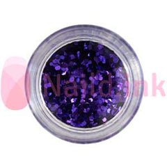 Hexagon Nail Art Glitter - Blue Purple